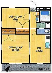 モンテクレーセC[2階]の間取り