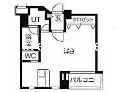 東京都新宿区四谷4丁目の賃貸マンションの間取り