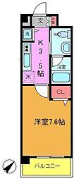 千葉県船橋市海神2丁目の賃貸マンションの間取り