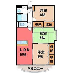 Y.M Hayashi[3階]の間取り