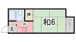 兵庫県姫路市東辻井1丁目の賃貸アパートの間取り