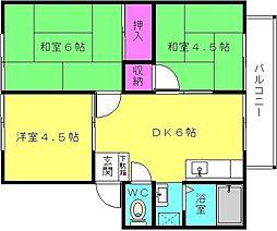 サンシティ東加古川A[201号室]の間取り