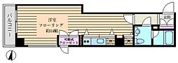 東海赤坂アネックス 4階ワンルームの間取り