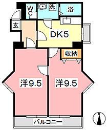 マンションニューボーン[601号室]の間取り