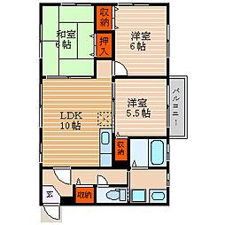 滋賀県彦根市芹町の賃貸アパートの間取り
