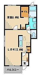 西武池袋線 稲荷山公園駅 徒歩29分の賃貸アパート 1階1LDKの間取り