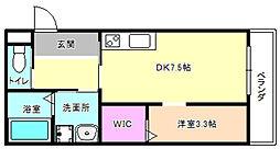 大阪府枚方市宮之阪3丁目の賃貸アパートの間取り