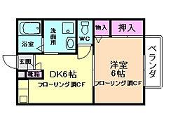 大阪府豊中市春日町1丁目の賃貸アパートの間取り
