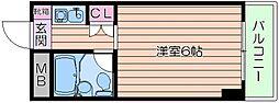 メゾン大和野江[8階]の間取り