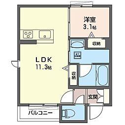 仮)八王子市子安町3丁目シャーメゾン 1階1LDKの間取り