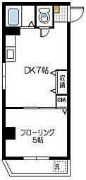 シティハイツ川崎[3階]の間取り