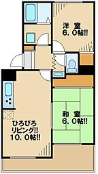 東京都多摩市和田の賃貸アパートの間取り