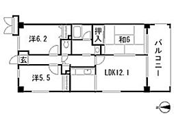 エステルハイム[2階]の間取り