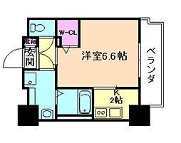 ミラージュパレス北梅田[3階]の間取り