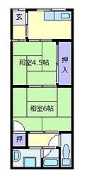 [一戸建] 大阪府松原市新堂2丁目 の賃貸【/】の間取り