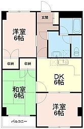 マンションオリーザ[3階]の間取り