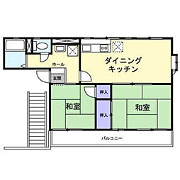 シティハイム東青梅2号[2階]の間取り