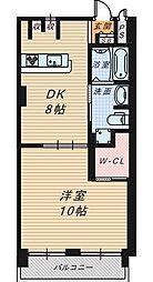 大阪府堺市堺区南庄町2丁の賃貸マンションの間取り