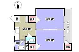 石村ビル[303号室]の間取り