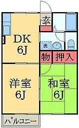 千葉県千葉市中央区蘇我2丁目の賃貸アパートの間取り