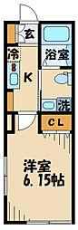 (仮)清水が丘1丁目共同住宅 2階1Kの間取り