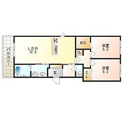 (仮称)八尾市シャーメゾン本町6丁目計画[2階]の間取り