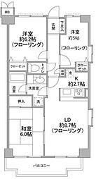 神奈川県横浜市都筑区牛久保2丁目の賃貸マンションの間取り