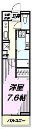 JR中央線 豊田駅 徒歩7分の賃貸アパート 1階1Kの間取り