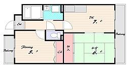 フルーレットII[2階]の間取り
