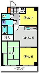 神奈川県横浜市旭区鶴ケ峰本町1丁目の賃貸マンションの間取り