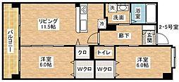 ホクリマンションI[302号室]の間取り