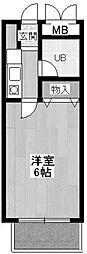 神奈川県川崎市多摩区布田の賃貸マンションの間取り