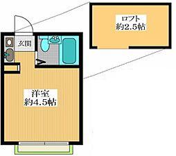 ペアパレス平和台3[1階]の間取り