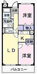 埼玉県八潮市大字伊勢野の賃貸マンションの間取り
