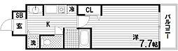 STATION COURT SOUTH[4階]の間取り