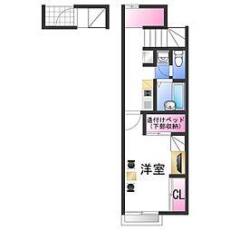 南海加太線 八幡前駅 徒歩13分の賃貸アパート 2階1Kの間取り