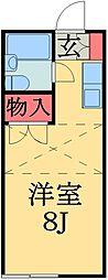 千葉県市原市ちはら台東5丁目の賃貸アパートの間取り