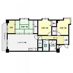第18共立ビル[3階]の間取り