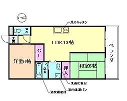 サザンコート[2階]の間取り