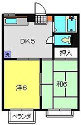 神奈川県横浜市港南区港南4丁目の賃貸マンションの間取り