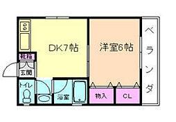 関川ハイツ[3階]の間取り