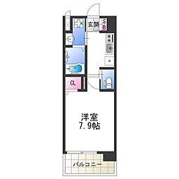 南海汐見橋線 芦原町駅 徒歩5分の賃貸マンション 6階1Kの間取り