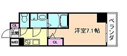 サムティ福島ルフレ 9階1Kの間取り