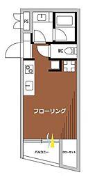 シグマ柿の木坂 3階ワンルームの間取り