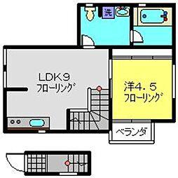 平川町アパートメント[2F号室]の間取り