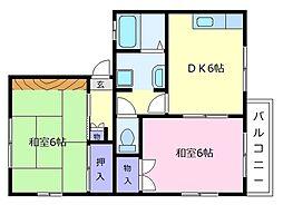 ドミール島泉C棟[2階]の間取り