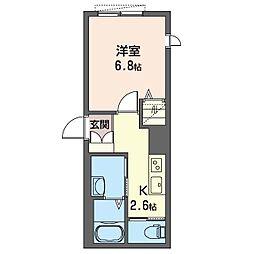 仮)板橋区清水町シャーメゾン 1階1Kの間取り