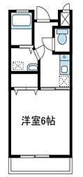 神奈川県厚木市鳶尾2丁目の賃貸マンションの間取り