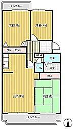 ラフィーネ草間[1階]の間取り