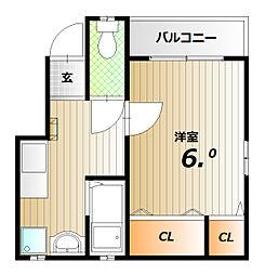 佐川ハイツ[2階]の間取り